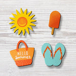 Hello Summer Icon Magnets