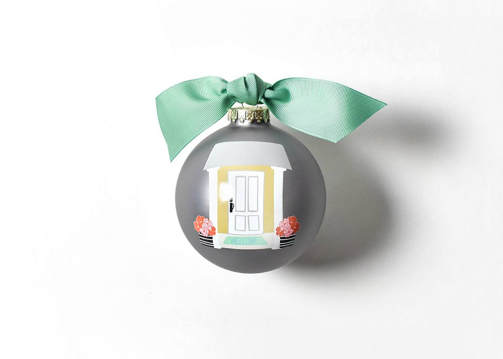 Home Sweet Home Glass Ornament