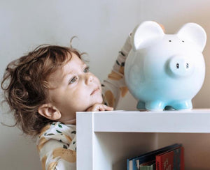 Ombre Piggy Bank | Blue