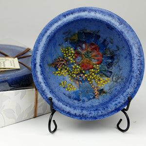 Indigo Amber Large Wax Pottery Bowl