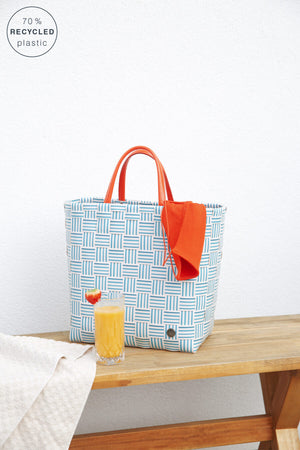 Handed By Joy Recycled Tote | Petrol