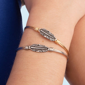 Mini Lucky Feather Bangle Bracelet