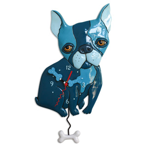 Le Bleu Dog Clock