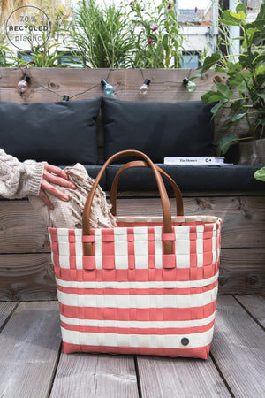 Handed By Lumberjack Recycled Tote | Canyon Clay & White