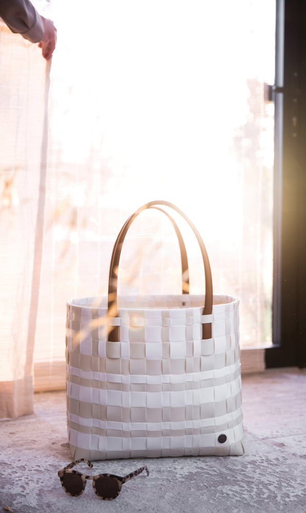 Handed By Lumberjack Recycled Tote | Cream & White