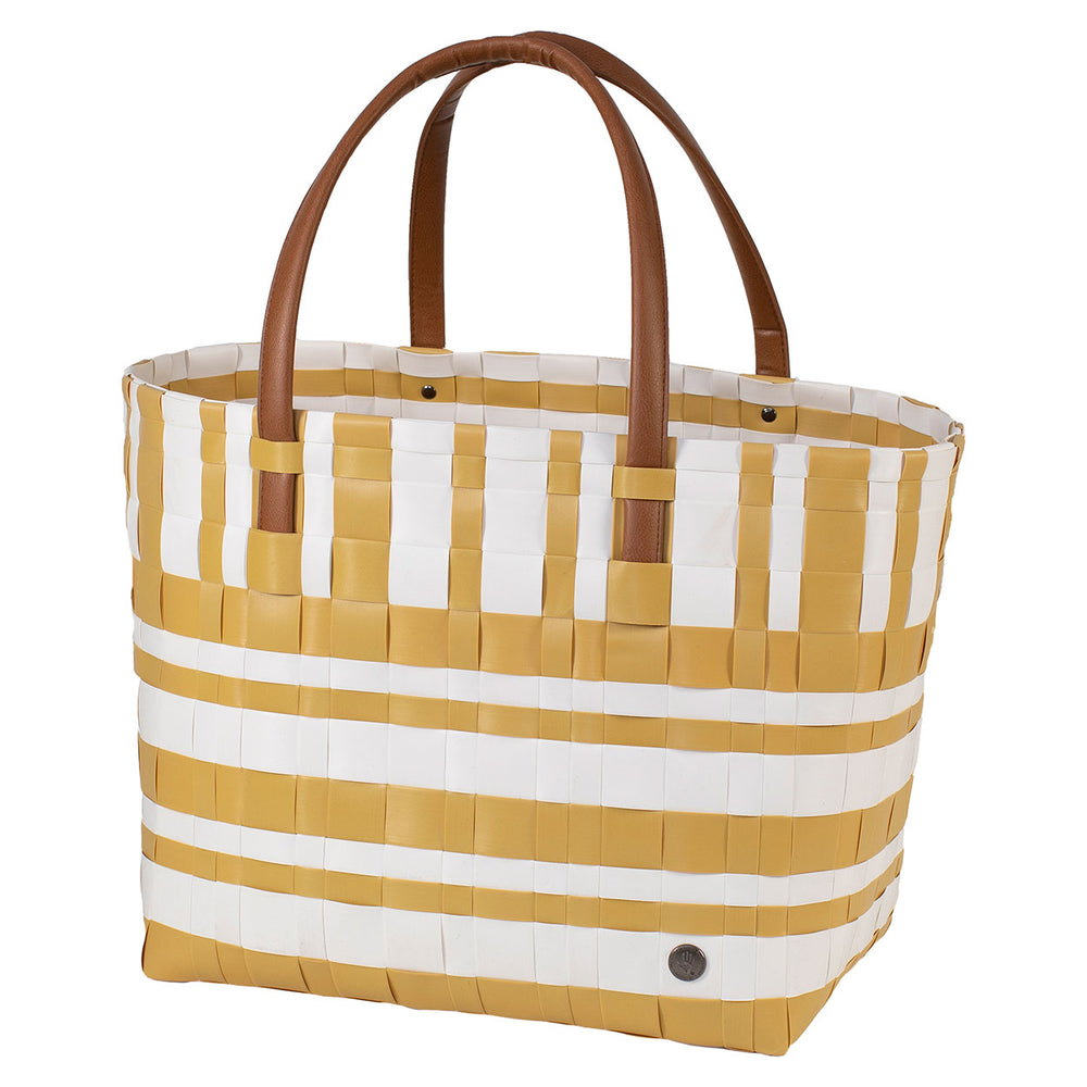 Handed By Lumberjack Recycled Tote | Mustard & White