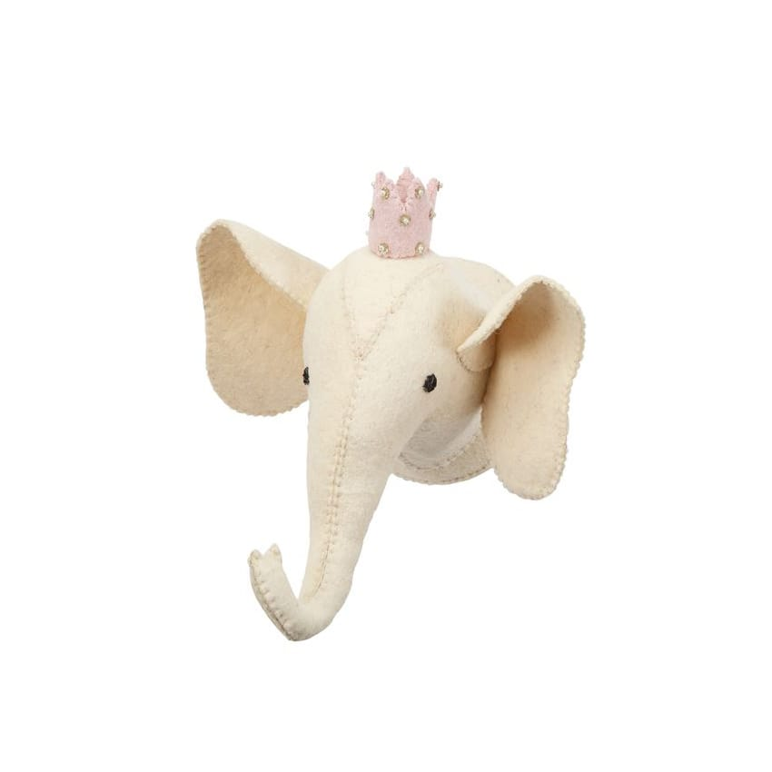Mini Elephant Wall Mount: Ivory