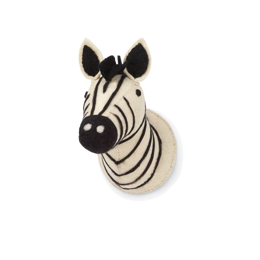 Mini Safari Wall Mount: Zebra