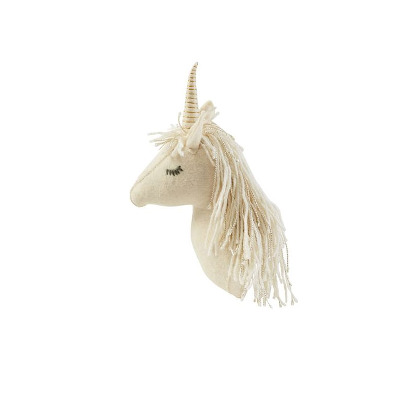 Mini Unicorn Wall Mount: White