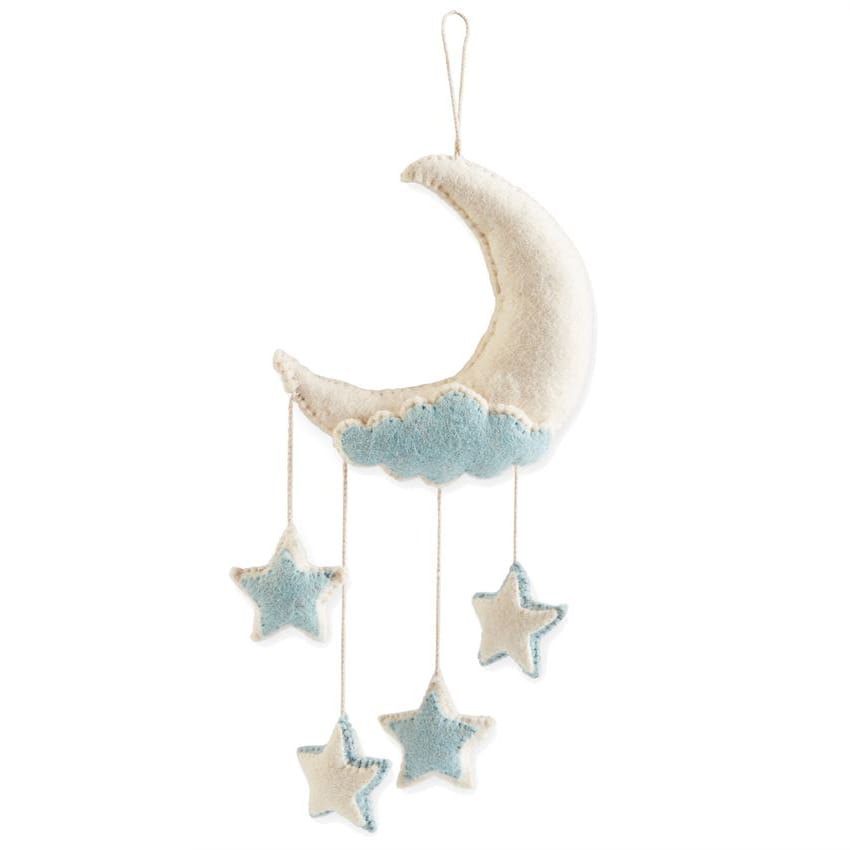 Moon Wall Hanging: Blue