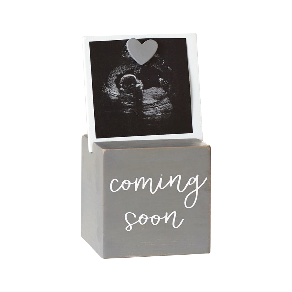 Sonogram Photo Block Frame | Gray