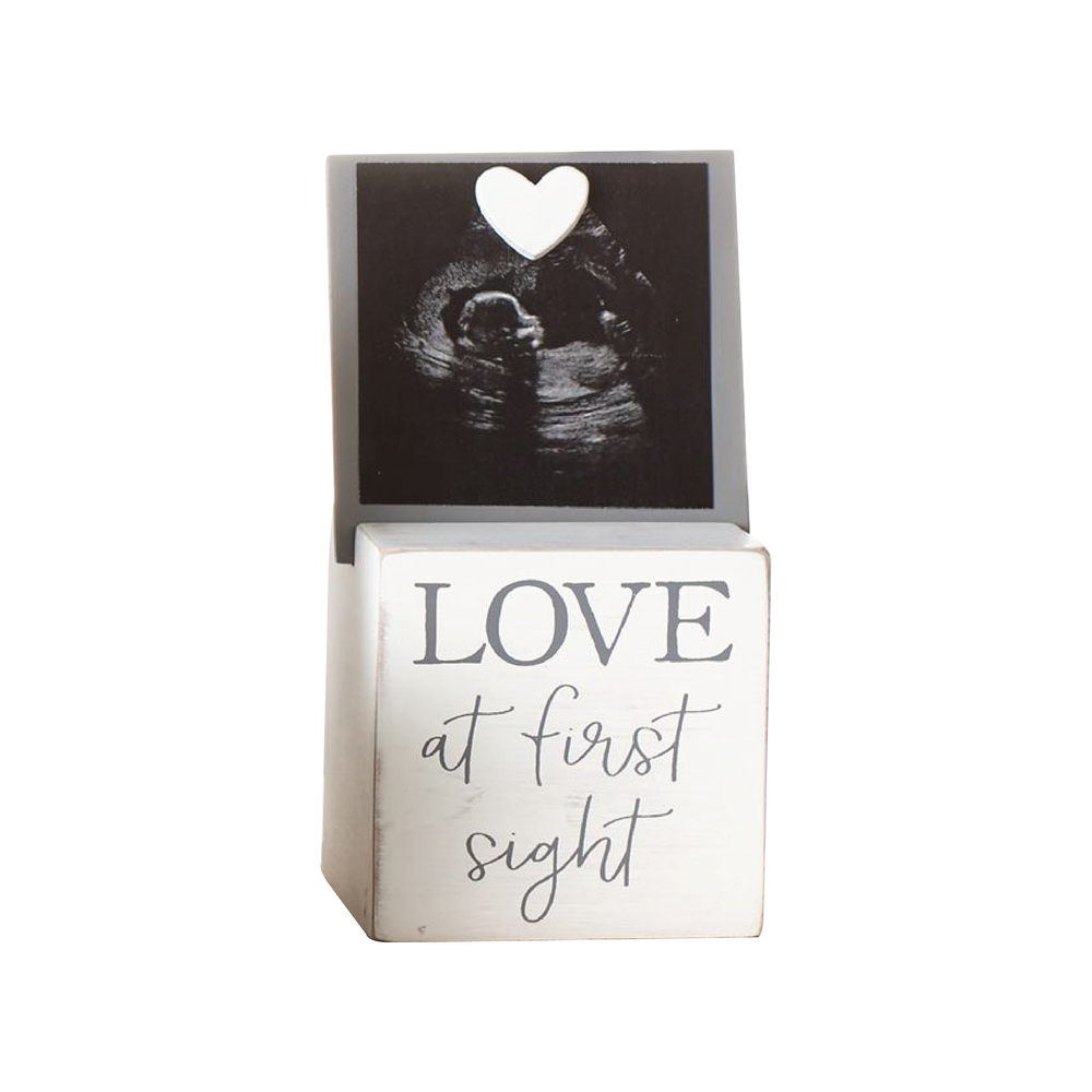 Sonogram Photo Block Frame | White