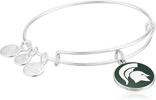 Michigan State University Logo Charm Bangle | Silver