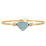 Mom Bangle Bracelet | Teal