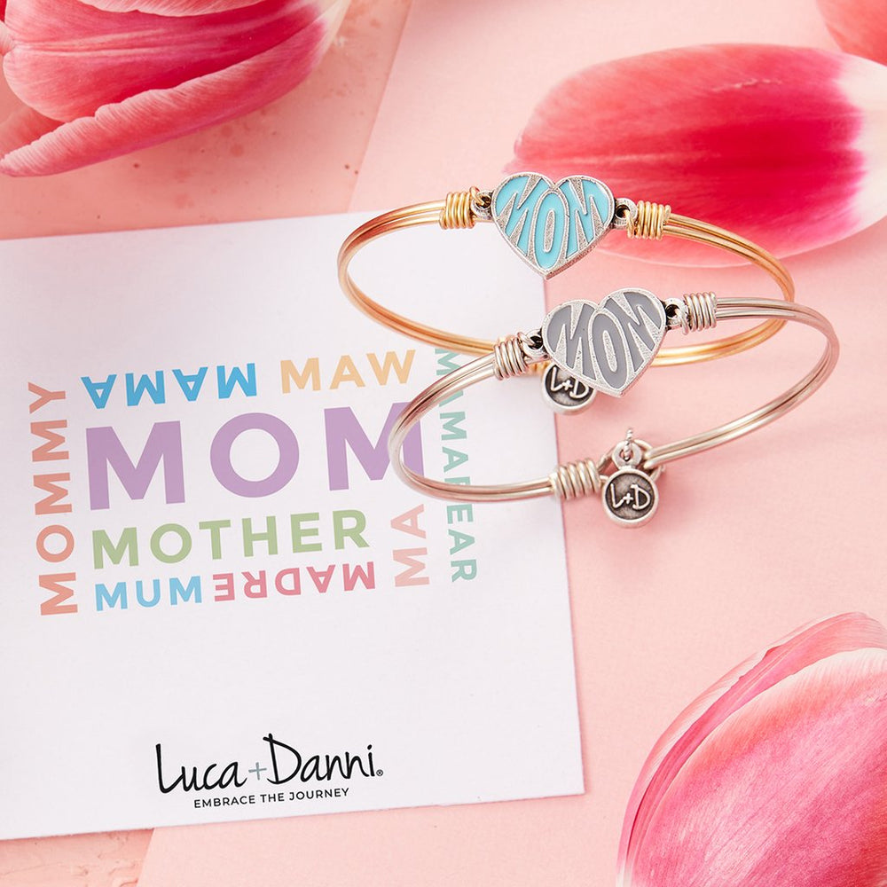 Mom Bangle Bracelet | Grey