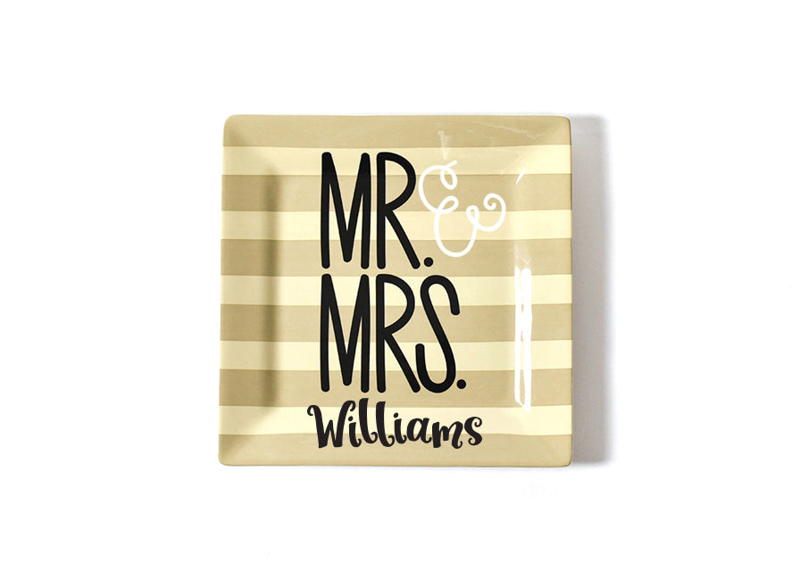 Mr. & Mrs. Wedding Square Platter