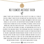 No Flowers Without Rain Dainty Disc Necklace | Silver