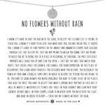 No Flowers Without Rain Dainty Disc Necklace | Gold