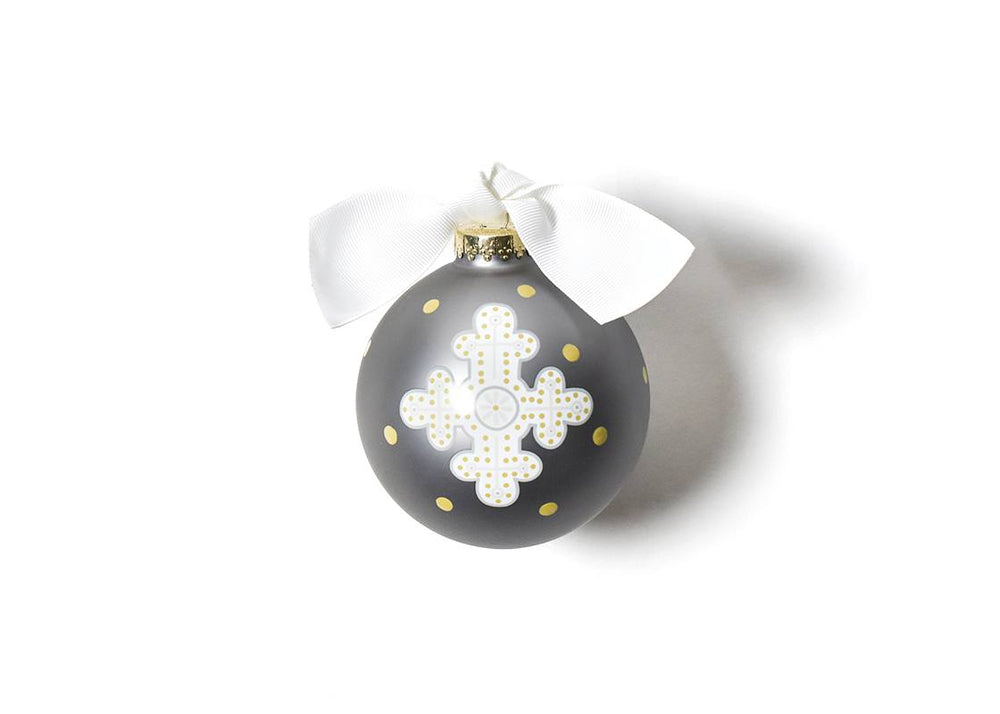Neutral Cross Glass Ornament