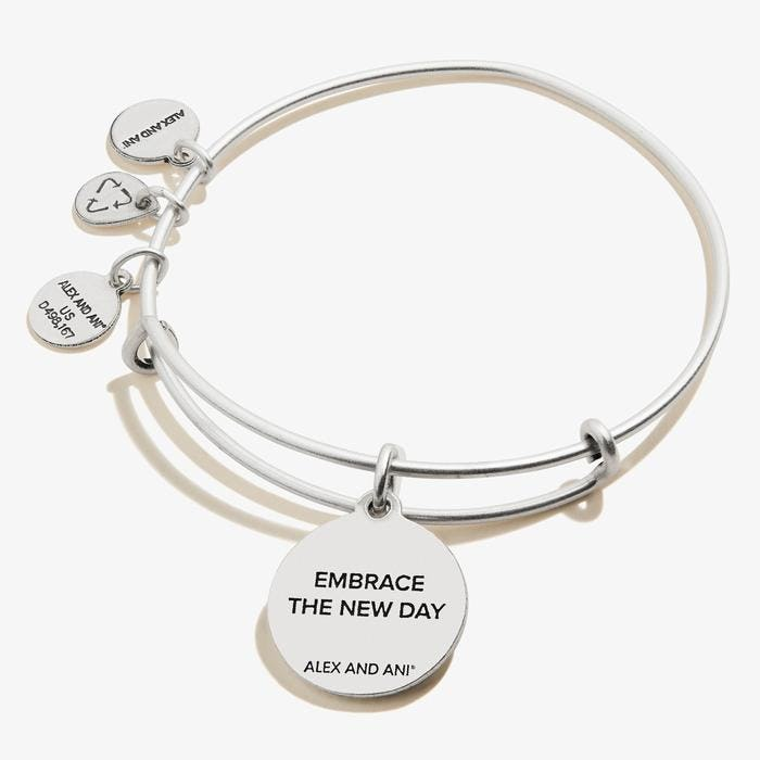 New Day Charm Bangle | Silver
