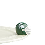 Nora Fleming Michigan State Helmet Mini