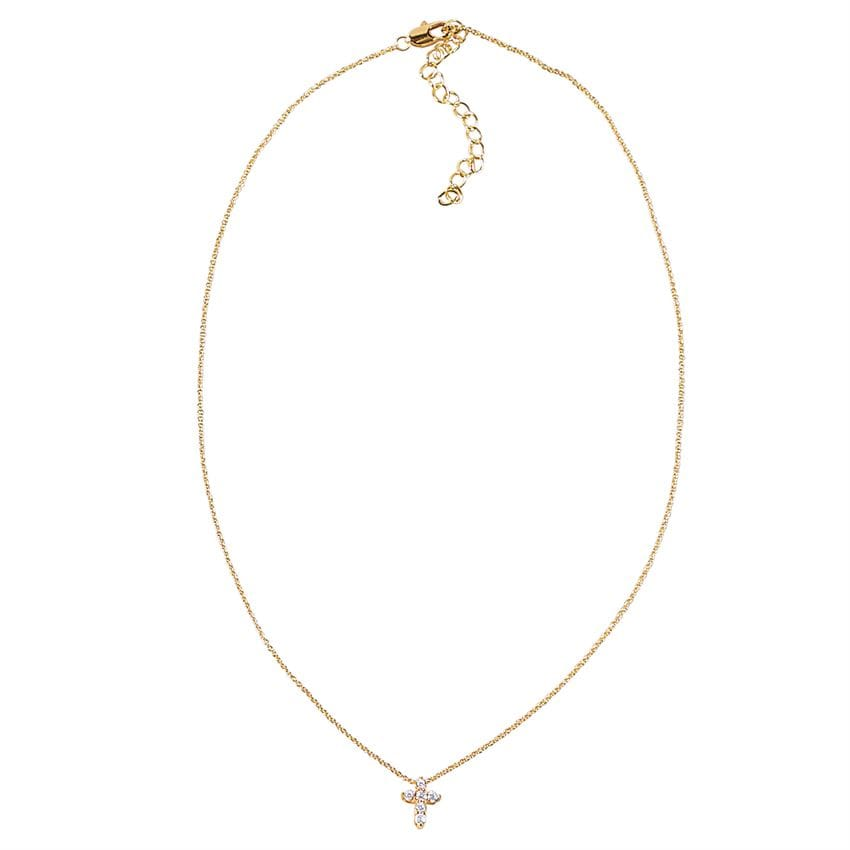 Pave Cross Baby Necklace