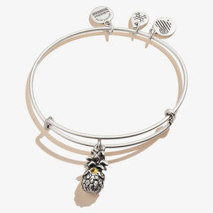 Pineapple Charm Bangle | Silver