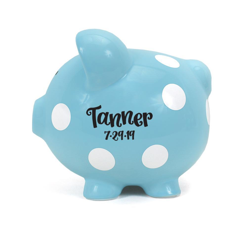 White Dot Piggy Bank