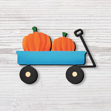 Pumpkins In Wagon Magnet