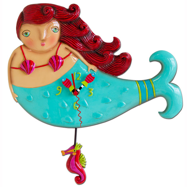 Ruby Mermaid Clock