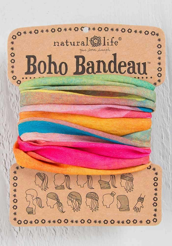 Boho Bandeau | Hot Pink Rainbow