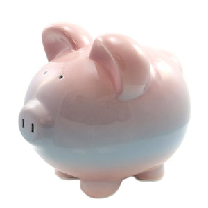 Ombre Piggy Bank | Raspberry
