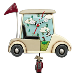 Stay The Course Golf Cart Pendulum Clock