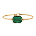 Dylan Bangle Bracelet in Emerald