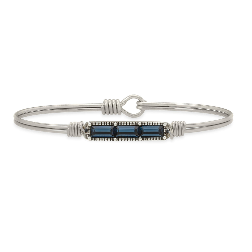 Mini Hudson Bangle Bracelet in Montana Blue
