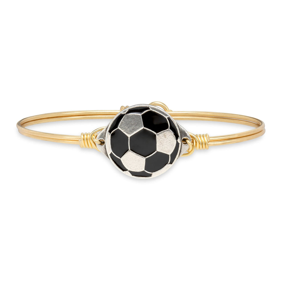 Soccer Ball Bangle Bracelet