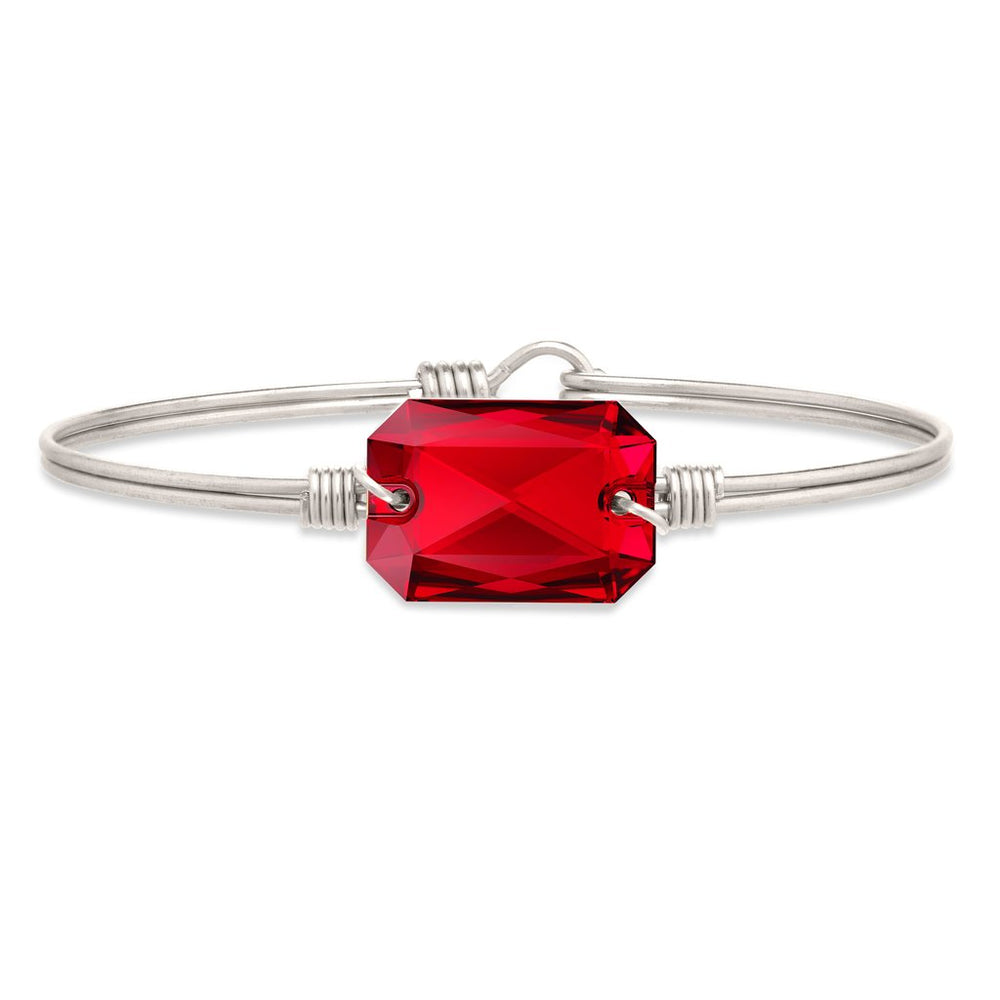 Dylan Bangle Bracelet in Scarlet Red