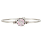 Little Footsteps Bangle Bracelet in Pink