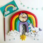 Rainbows & Unicorns Clock