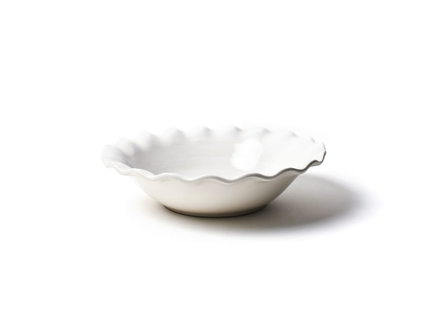 "Signature White 11"" Ruffle Best Bowl"