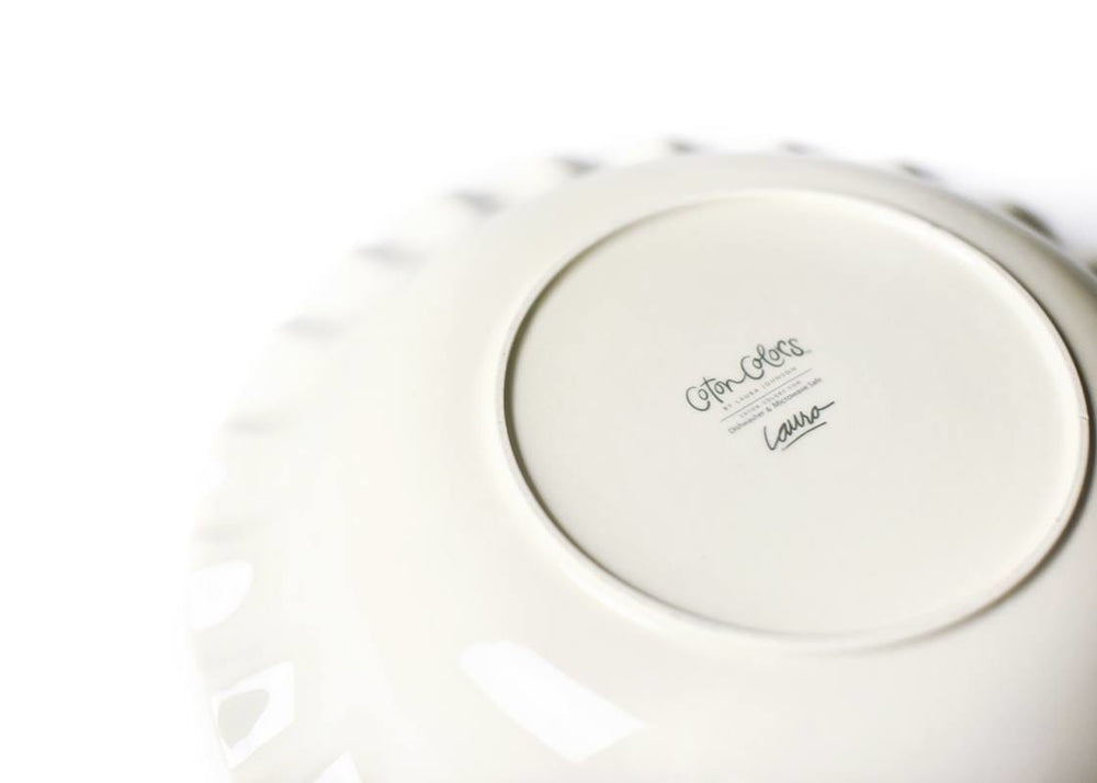"Signature White 13"" Ruffle Best Bowl"
