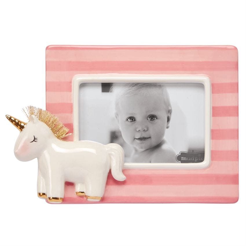 Unicorn Pink Stripe Frame