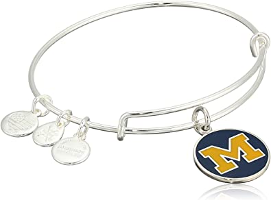 University of Michigan Logo Charm Bangle | Silver