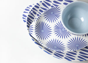 Wedgewood Burst Small Handled Oval Platter