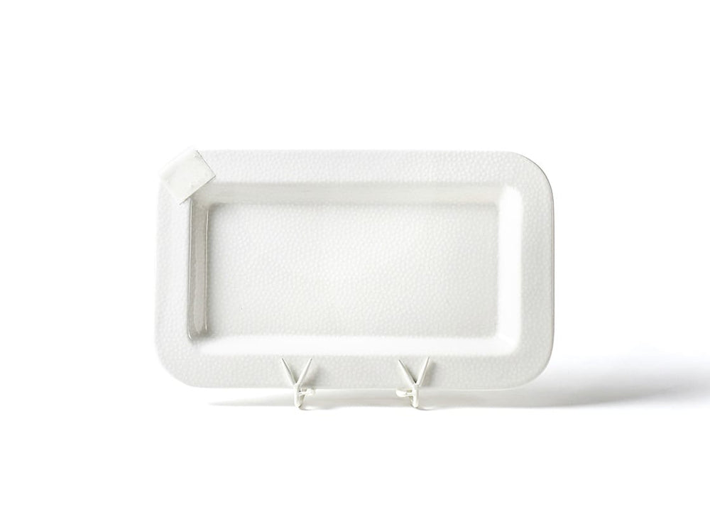 White Small Dot Mini Rectangle Platter