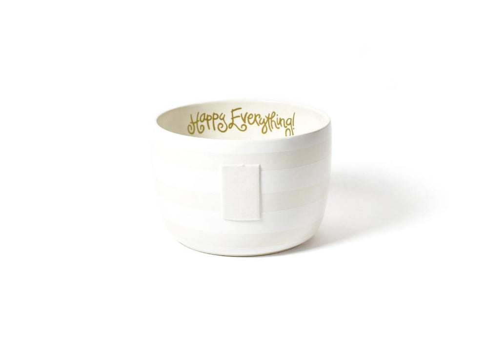 White Stripe Happy Everything!™ Big Bowl