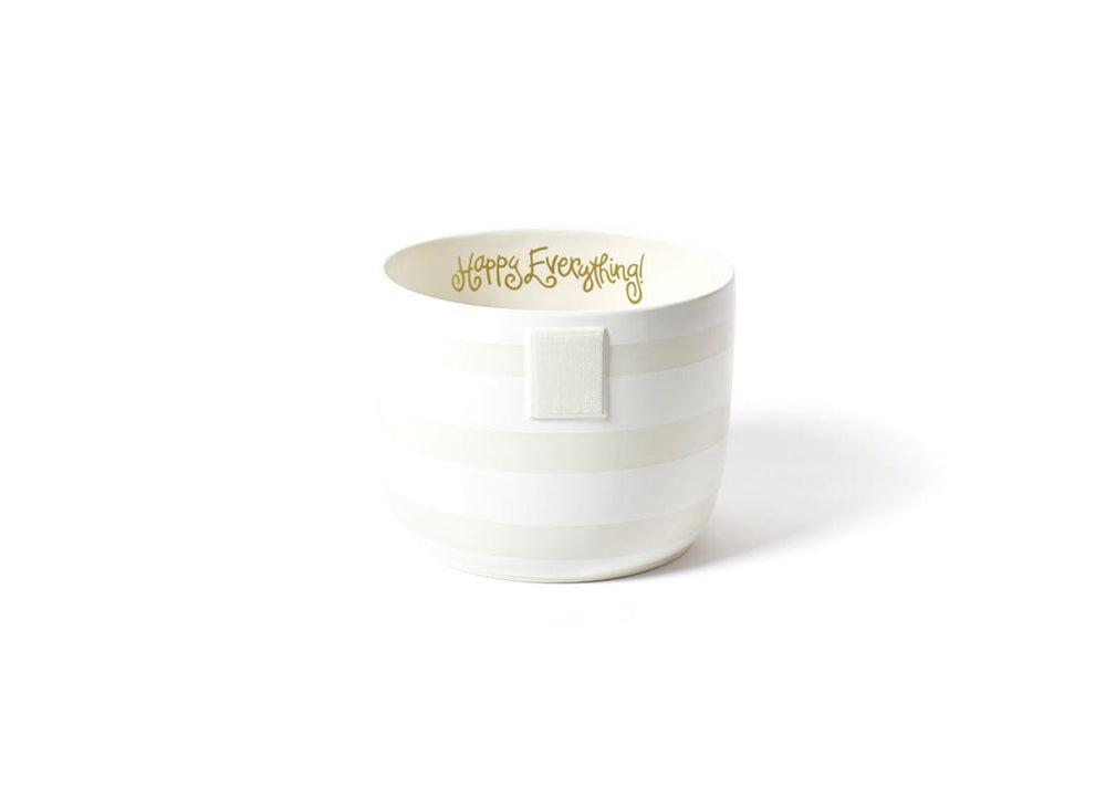White Stripe Happy Everything!™ Mini Bowl