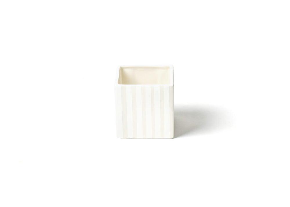 White Stripe Mini Nesting Cube Small