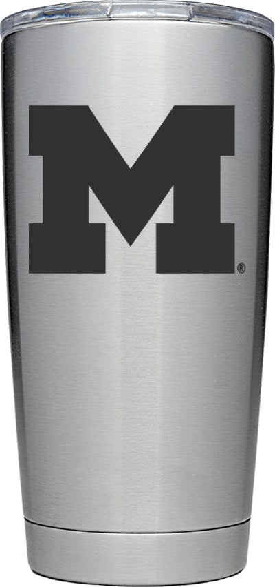 YETI Stainless Collegiate Rambler 20oz Tumbler: University of Michigan