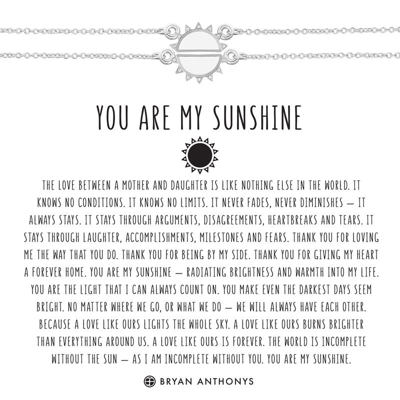 You Are My Sunshine Necklace | Silver